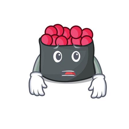 Afraid mascot cartoon style vector illustration