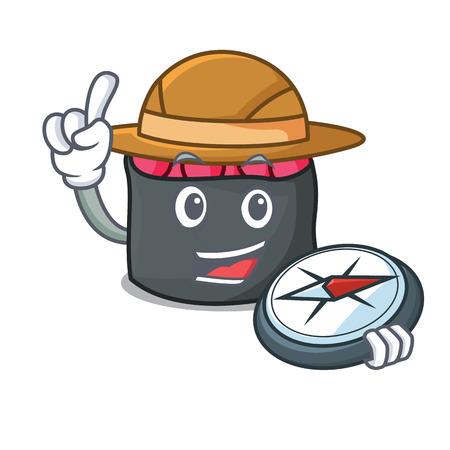 Ikura mascot cartoon style vector illustration Illustration