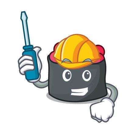 Automotive mascot cartoon style vector illustration Illustration