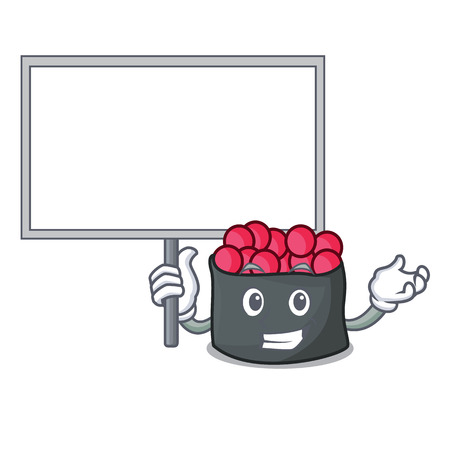 Bring board ikura character cartoon style vector illustration Illustration