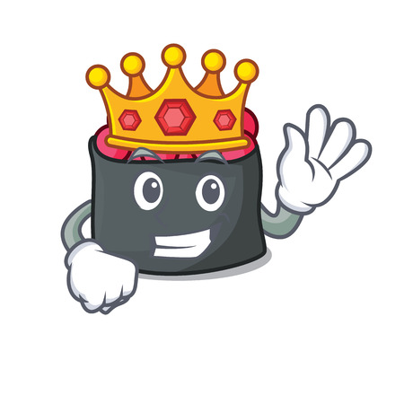 King ikura mascot cartoon style vector illustration