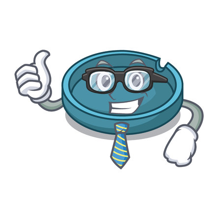 Businessman ashtray character cartoon style
