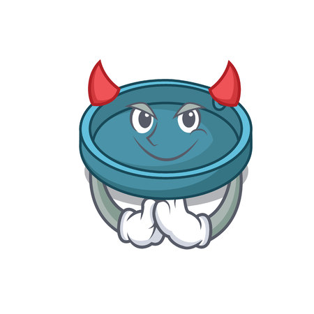 Devil ashtray mascot cartoon style Illustration