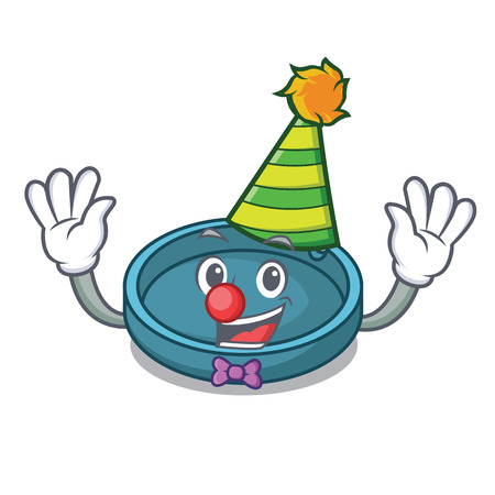 Clown ashtray mascot cartoon style vector illustration