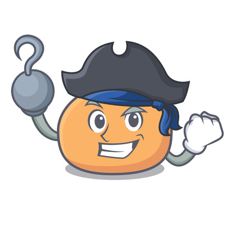 Pirate mochi character cartoon style vector illustration