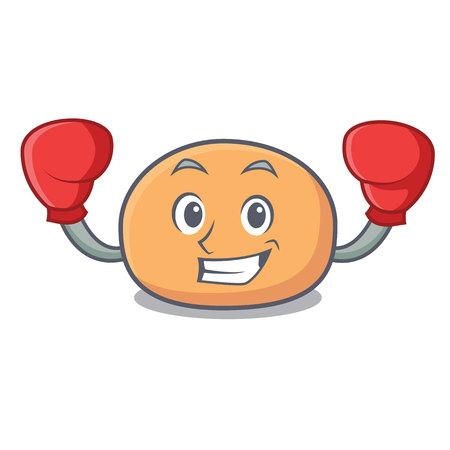 Boxing mochi character cartoon style vector illustration Illustration