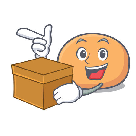 With box mochi character cartoon style vector illustration
