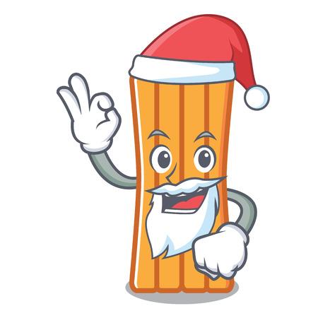 Santa air mattress mascot cartoon