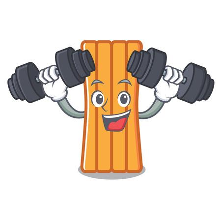 Fitness air mattress character cartoon Illustration
