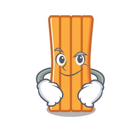 Smirking air mattress character cartoon vector illustration Illustration
