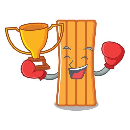 Boxing winner air mattress mascot cartoon