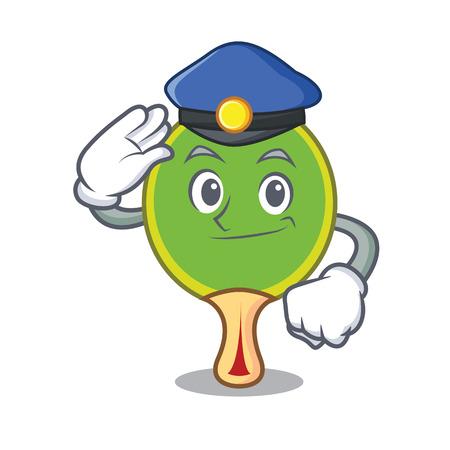 Police  racket character cartoon Stock Illustratie