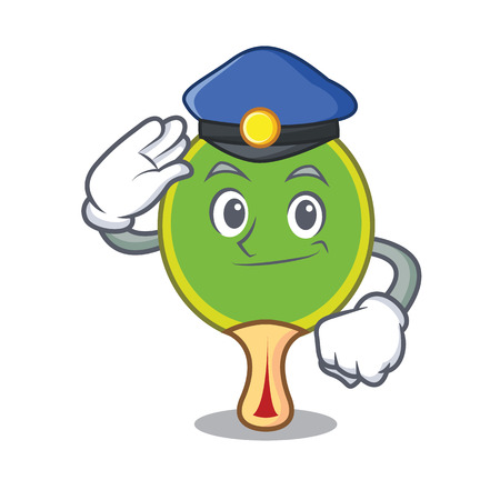 Police  racket character cartoon Stock Illustratie