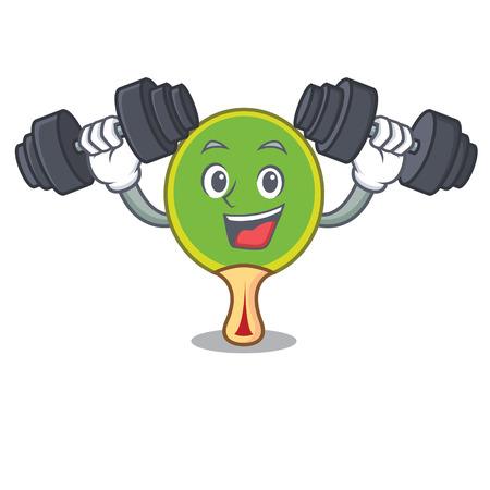Fitness  racket character cartoon