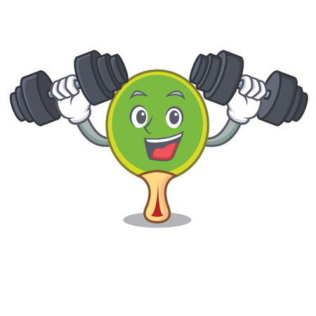 Fitness  racket character cartoon