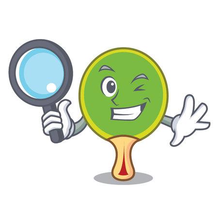 Detective racket character cartoon