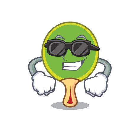 Super cool racket character cartoon