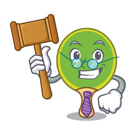 Judge table tennis racket cartoon character