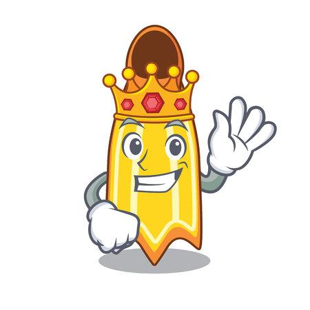 King swim fin mascot cartoon vector illustration
