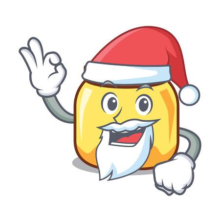 Santa cream jar mascot cartoon vector illustration