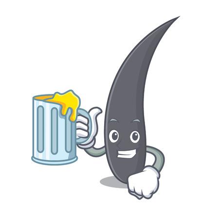 With juice hair mascot cartoon style vector illustration