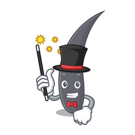 Magician hair mascot cartoon style vector illustration