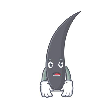 Afraid hair mascot cartoon style