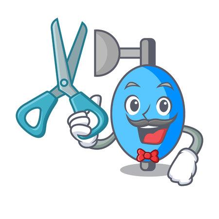 Barber ambu bag character cartoon vector illustration Illustration