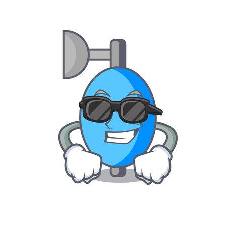 Super cool ambu bag character cartoon vector illustration