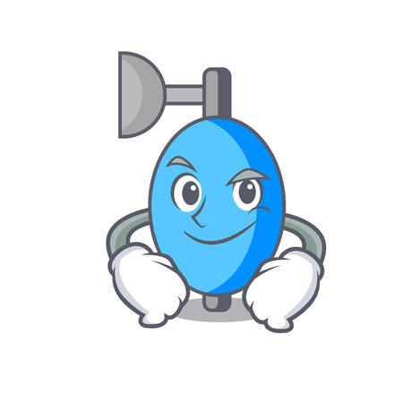 Smirking ambu bag character cartoon vector illustration Illustration