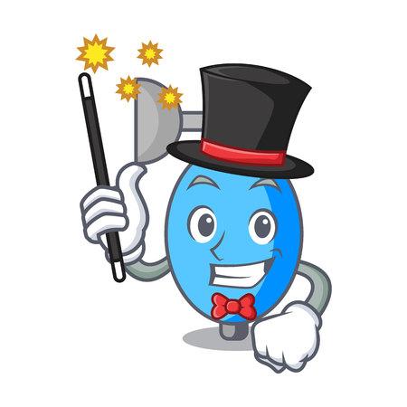 Magician ambu bag mascot cartoon vector illustration