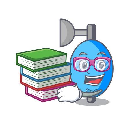 Student mit Buch ambu Tasche Maskottchen Cartoon Vektor-Illustration