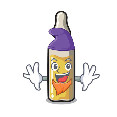 Elf ampoule character cartoon style vector illustration Illustration