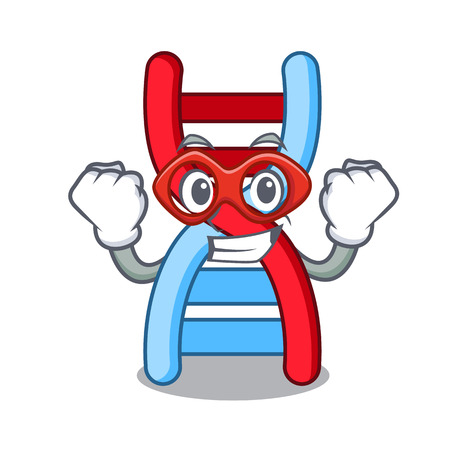Super hero dna molecule character cartoon Illustration
