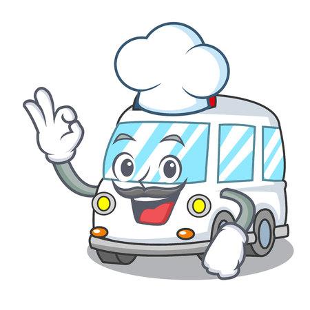 Chef ambulance character cartoon style vector illustration Illustration
