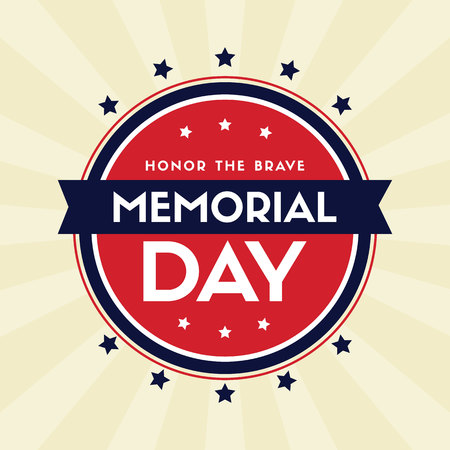 Memorial day background greeting card