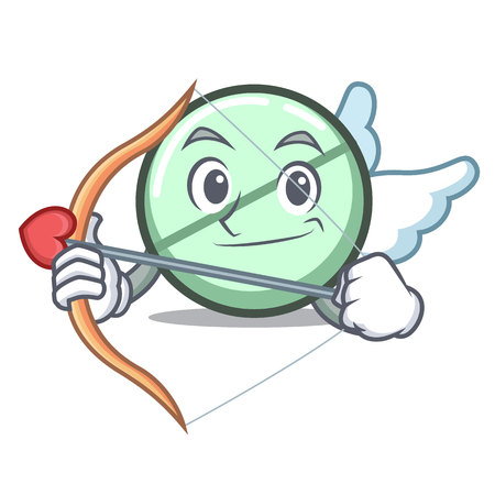 Cupid drug tablet character cartoon vector illustration Vectores