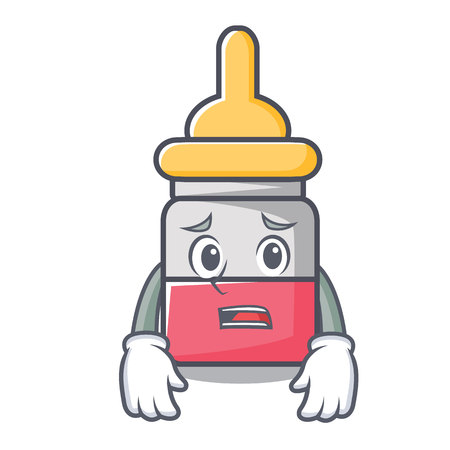 Afraid nasal drop mascot cartoon vector illustration. Çizim
