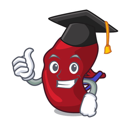Graduation spleen character cartoon style
