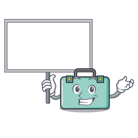 Bring board suitcase character cartoon style vector illustration