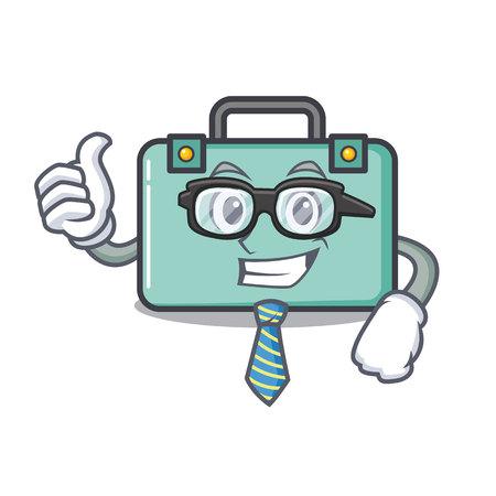 Businessman suitcase character cartoon style vector illustration