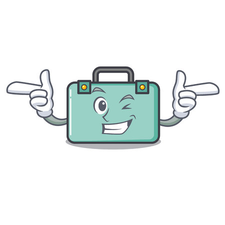 Wink suitcase character cartoon style