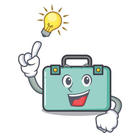 Have an idea suitcase mascot cartoon style vector illustration