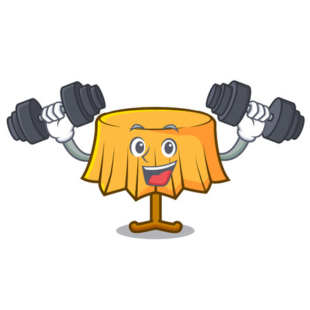Fitness table cloth character cartoon vector illustration