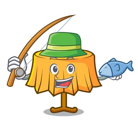 Fishing table cloth mascot cartoon vector illustration Illustration