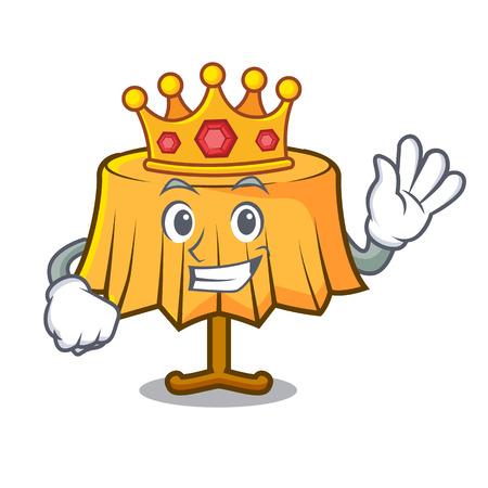 King table cloth mascot cartoon vector illustration Illustration