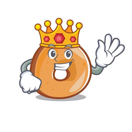 King bagels mascot cartoon style vector illustration