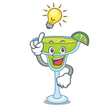 Have an idea margarita mascot cartoon style vector illustration