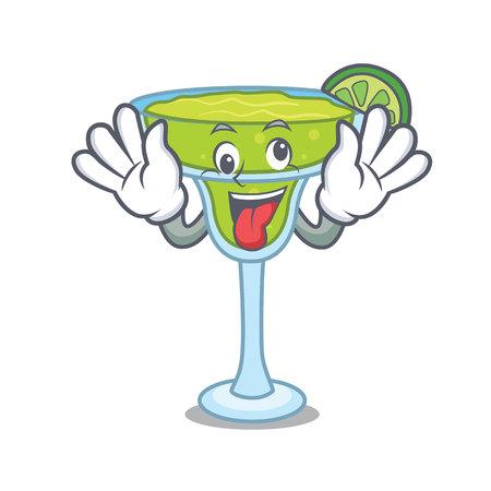 Crazy margarita mascot cartoon style vector illustration Illustration