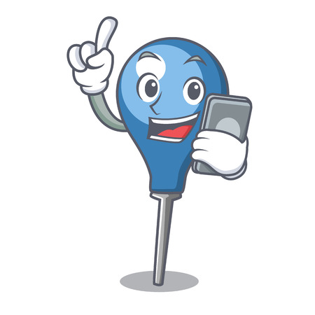 With phone clyster character cartoon style Illustration